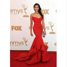 Nach Maß Red Celebrity Kleider Schatz Backless Lange Zug Roter Teppich Kleid Sexy Besonderen Abend Party Kleid