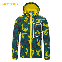 NEXTOUR outdoor Jacket Kids Camo Softshell Jacket Waterproof tops Windproof with fleece girls boys winter ski trekking hunting
