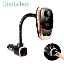 Digitalboy Inalámbrico Bluetooth Reproductor de Mp3 Del Coche Dual USB Cargador de Coche Transmisor FM Modulador Interruptor de Audio de Manos Libres en/de