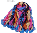 2015 women wholesale large silk scarf cheap fashion brand  long silk shawls scarves wraps red scarfs european scarf180*110CM 5pc