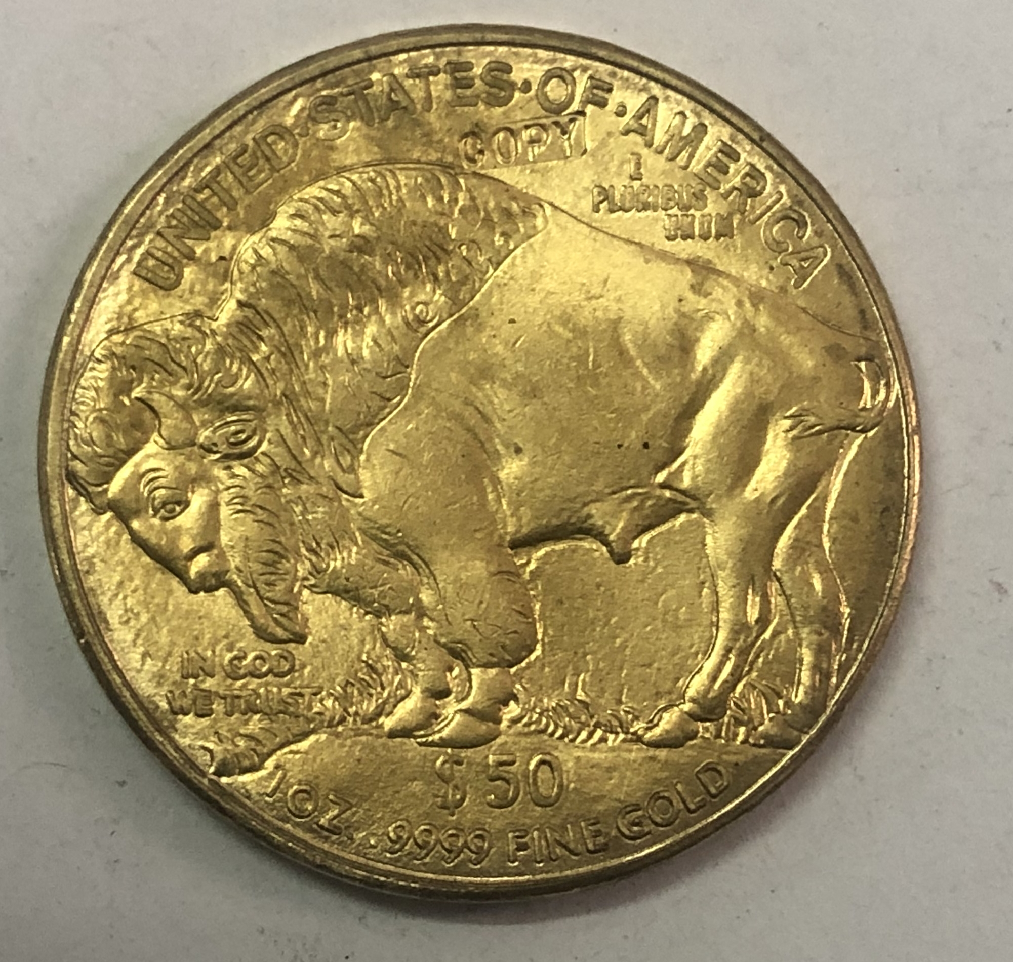 """2008 دولار أمريكي 50 دولار """"جاموس أمريكي"""" سبائك الذهب عملة عملات غير رسمية    - AliExpress"""