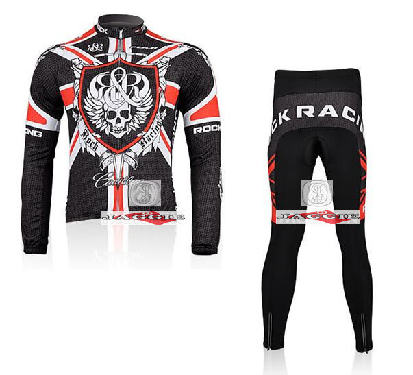 3D Silicone! new Racing 2010 #1 team long sleeve autumn cycling wear clothes bicycle bike riding cycling jerseys pants set