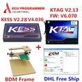 2017 Newest KESS V2 V2.28 FW V4.036 OBD2 Manager Tuning Kit Master+ KTAG V2.13 ECU Programmer+BDM Frame Adapter free shipping