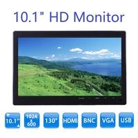 Nexan S101 10.1 inch Monitor HD 1024*600 with Video Audio VGA AV BNC USB HDMI 10 inch Dispaly for CCTV Camera PC DVD Laptop