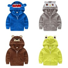 Children winter coat Children's outerwear winter style baby Kids Clothes Boys Gilrs Shark Cartoon Coat Baby Clothes H00151