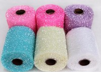 15CM 15Yd Snow Dot Tulle Spool Roll Organza Roll Circle For Tutu Wedding Party Gift And