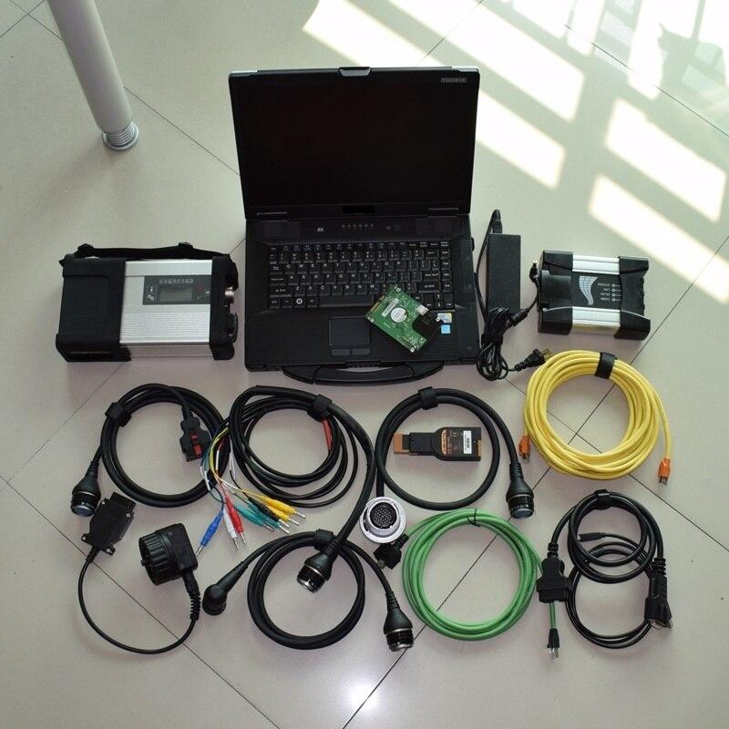 Полный Чипсы MB Star C5 для BMW ICOM следующий A B C программирования 2in1 инструмента диагностики с последние установлено программное обеспечение В ...