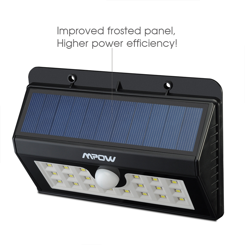 Mpow msl7 super bright solar light 20 led security motion sensor mpow msl7 super bright solar light 20 led security motion sensor weatherproof light with 3 intelligent modes for outdoor doorway in solar lamps from lights aloadofball Gallery