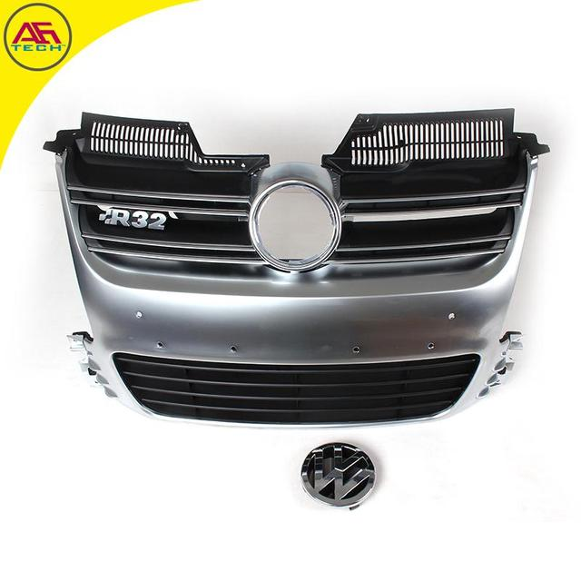 High Quality Matt Silver R32 Car Front Bumper Radiator Mesh Grill