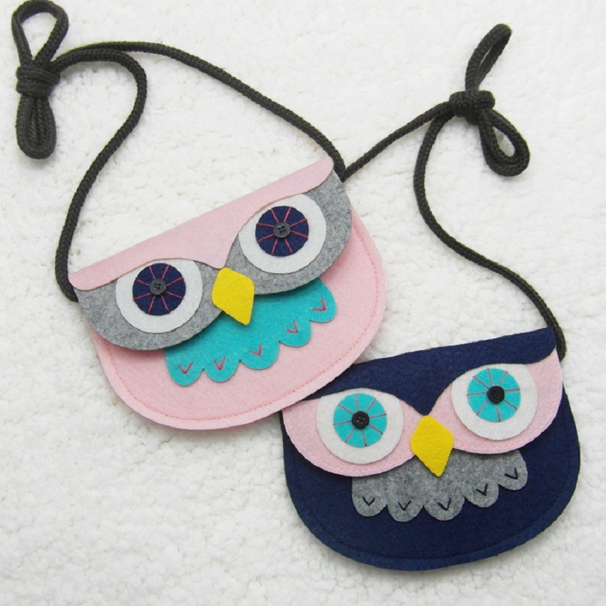 Newest Childrens coin Purses / Girl & boy unisex coin wallet bag,Creative Owl pattern child bag,SKU 0322