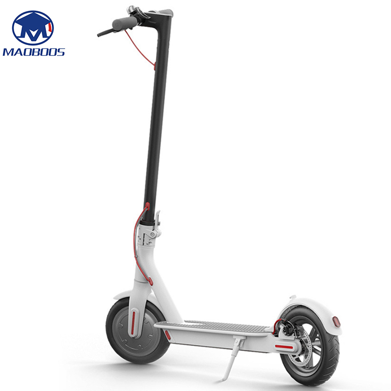 2 Wheel Lightweight Electric Scooter with Long and foldable board 2
