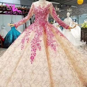Image 2 - AIJINGYU לקנות חתונה שמלות שמלות תחת 500 גב פתוח מלכת אשליה איטלקי וגאס חתונות מוסלמי שמלת כלה