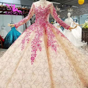 Image 2 - AIJINGYU Buy Wedding Dresses Gowns Under 500 Open Back Queen Illusion Italian Vegas Weddings Muslim Wedding Dress