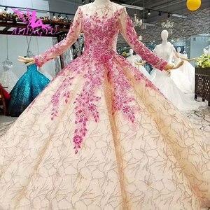 Image 2 - AIJINGYU acheter des robes de mariée de moins de 500 dos ouvert reine Illusion italien Vegas mariages robe de mariée musulmane