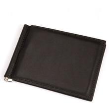 Nouveau clip de l'argent en cuir mince avant pocket wallet avec ID carte de crédit slots unisexe portefeuille en cuir d'affaires prix de gros / détail