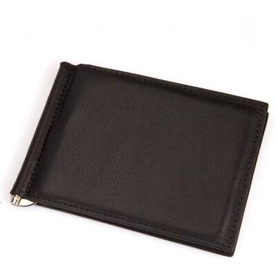 Nueva leather money clip delgado de bolsillo delantero monedero con ID credit card slots unisex monedero del cuero del negocio dinero venta al por mayor / al por menor