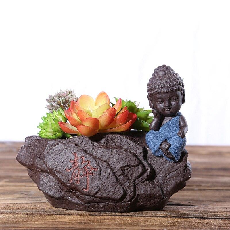 Personalzed Buddha Ceramic Flower Pot Creative Succulent ...