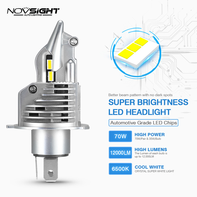 1:1 DESIGN NOVSIGHT H4 LED H7 H11 H16JP 9005 9006 9012 P13 PSX24W PSX26W 50W 10000LM 6500K Fog Light