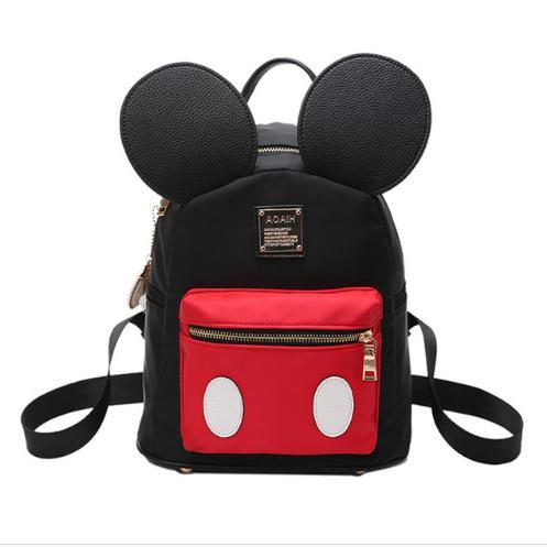 Fashion Mickey woman backpack Nylon black Grils School backpack mini travel backpack Kids School rucksack mochila S178