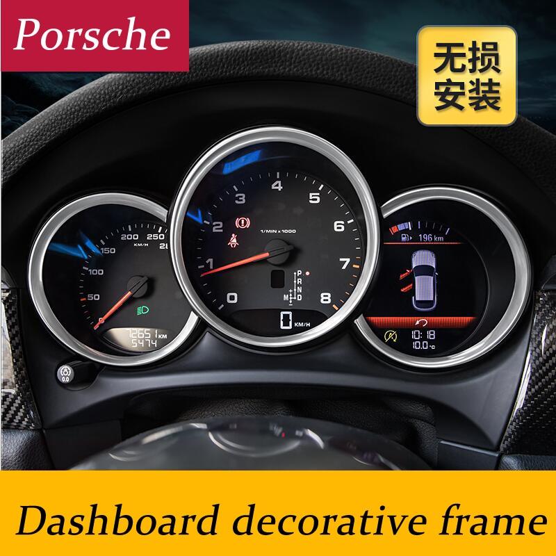 Auto-styling Interieur Armaturenbrett Dekorrahmenrahmen 3D-Aufkleber für Porsche Macan Cayman Boxster 911 Panamera Cayenne