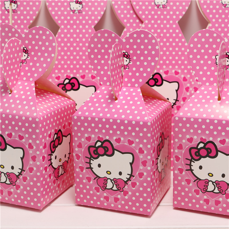 34bbbb5aaffe New 6pcs Baby Shower Favors Hello kitty Favor Box Candy Box Birthday Party  Souvenir Boy Girl Kids Event   Party Supplies-in Gift Bags   Wrapping  Supplies ...