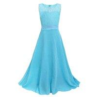 Girls Strapless Princess Dress Children Soft Lace Formal Costume Girl Bow Belt Sleeveless Dress For Wedding