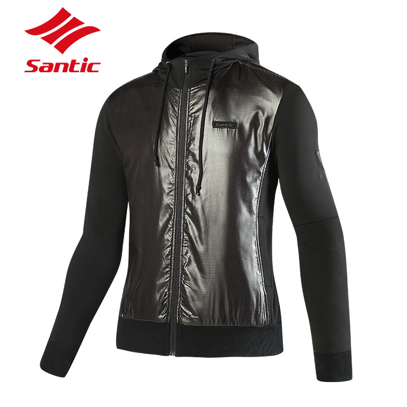 Santic Cycling Jacket MEN Autumn Winter Windproof Cycling Clothing Thermal Fleece Ropa Ciclismo MTB Mountain Road Bike Jacket