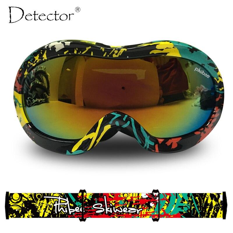 Detector 2016 Kids Double Anti Fog UV400 Protection font b Ski b font Goggles Boys Girls