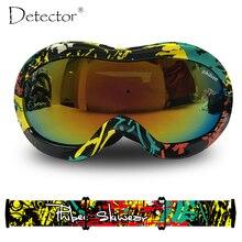 Detector Kids Double Anti Fog UV400 Protection Ski Goggles Boys Girls Snowboard Ski Glasses Winter Snow