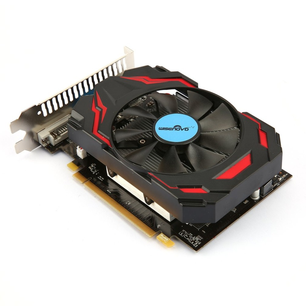 WISENOVO R7 350 4G/128bit GDDR5 Gaming Video Graphics Card PCI 3.0 One Cooling Fan Desktop PC Video Graphics Cards personal computer graphics cards fan cooler replacements fit for pc graphics cards cooling fan 12v 0 1a graphic fan