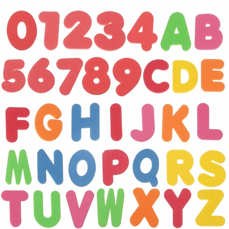 new 36pcs children bath tub foam letters numbers educational baby early learn water shower toy sets