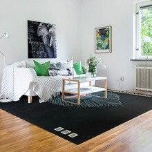 ALITEXTILEBTOC Rectangular 100% Acrylic Carpet Living Room Plant Print Bedroom Customizable Hand Carved