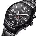2016 Новый Curren кварц Тегов мужчины часы повседневная полная сталь роскошные мужские наручные часы Мужчины Бизнес Relojes hombre военные наручные часы