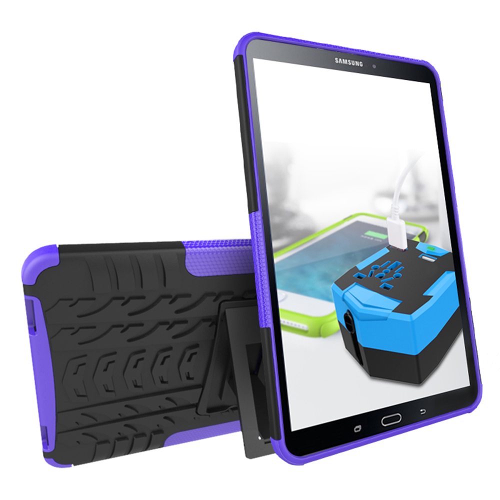 For Samsung Galaxy Tab a 10.1 2016 Case TPU and PC Shockproof Rugged Armor for Galaxy Ta ...