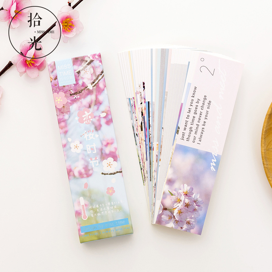 Cherry Blossom Season Letter Bookmark Paper Cartoon Animals Bookmark Promotional Gift Stationery Film Bookmark