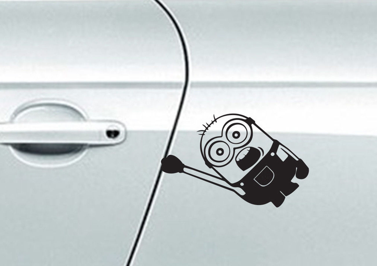 Online Get Cheap Vinyl Decal Car Minion Aliexpresscom Alibaba - Minion custom vinyl decals for car