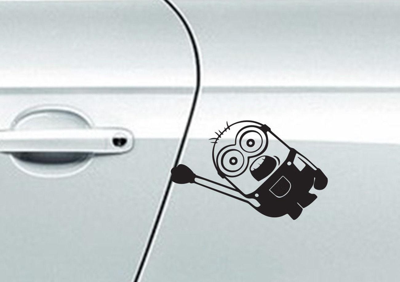 Hanging Minion Sticker Decal Vinyl Car Window Windscreen Wall Home Bedroom Children Refrigerator Bumper XMAS Decor Gift
