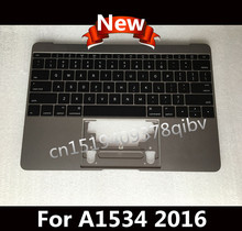 "New Topcase US Layout For Macbook ""Core M"" 12″ A1534 Top Case 2016 Grey with US QWERTY keyboard no backlight 100% working"