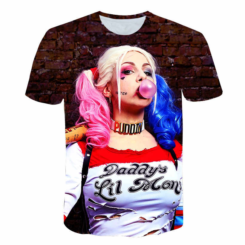 2018 Новый 3d футболка для Для мужчин клоун женский 3d принт шутливые футболки рубашка Для мужчин 3d Футболка топы плюс Размеры 5XL уличная