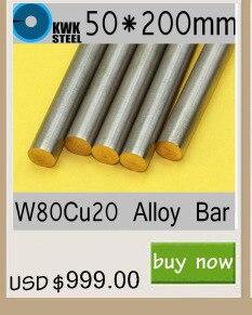 20*200mm Liga de Cobre do Tungstênio Bar