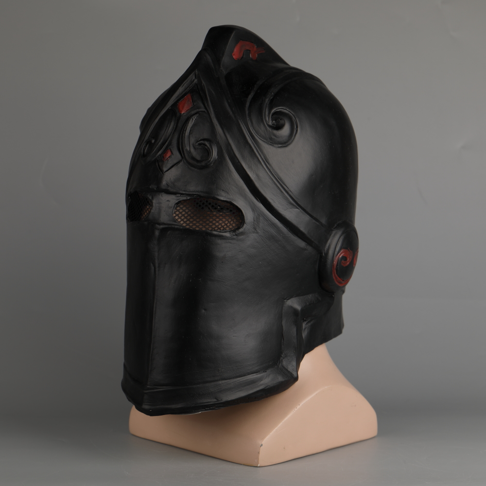 Game Fortniter Mask Cosplay Black Knight Legend Orange Skin Masks Latex Halloween Party Prop Dropshipping (36)