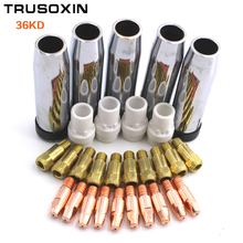 40pcs consumables=Tip+electrode+shield cups+swir gas ring  of the Binzel MIG MAG 36KD torch use for welding machine