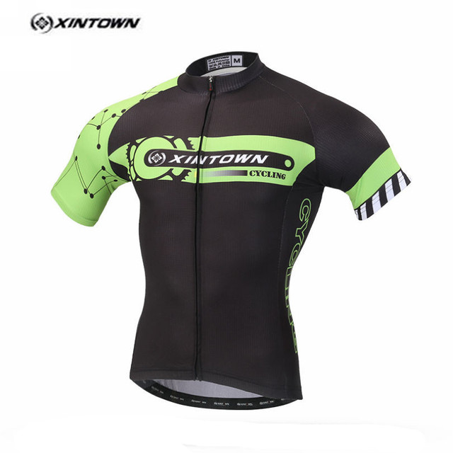 XINTOWN Black Green Cycling Jersey Men Bike Clothing Bicycle blouse Top  Ropa Ciclismo Racing T-Shirts Short sleeve Maillot Male 7622b25fb