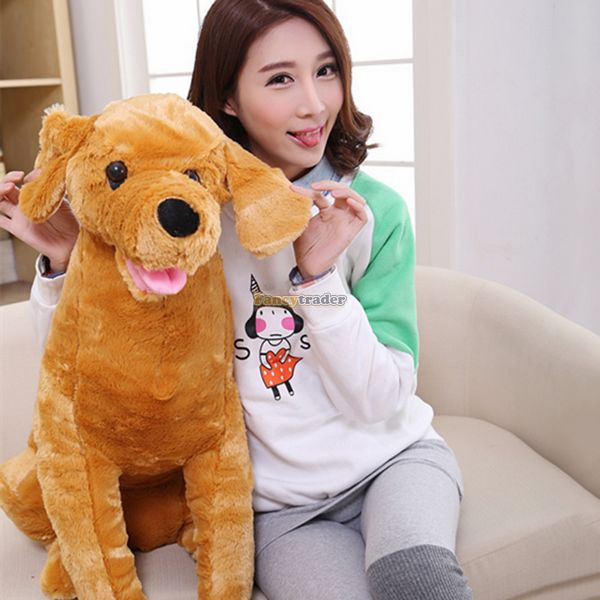 Fancytrader 37'' / 95cm Lovely Soft Cute Plush Giant Emulational Brown Dog Toy, Nice Gift For Kids, Free Shipping FT50191 fancytrader 2015 new 31 80cm giant stuffed plush lavender purple hippo toy nice gift for kids free shipping ft50367