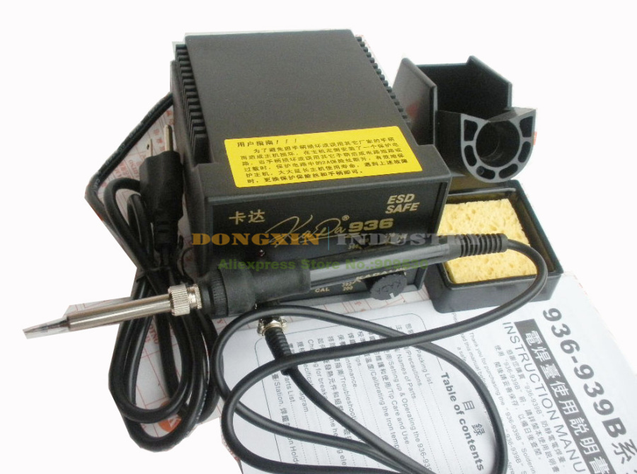 ФОТО KADA 936 IRON ESD SAFE Soldering Station With 5 parts Free shipping