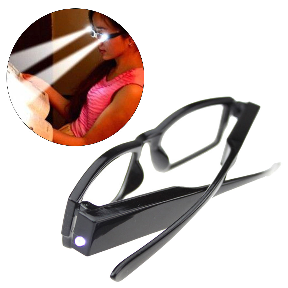 Multi Strength LED Reading Eyeglass Glasses Spectacle Diopter Magnifier Light UP 1 00 4 00 Diopter lentes de lectura hombre in Men 39 s Reading Glasses from Apparel Accessories