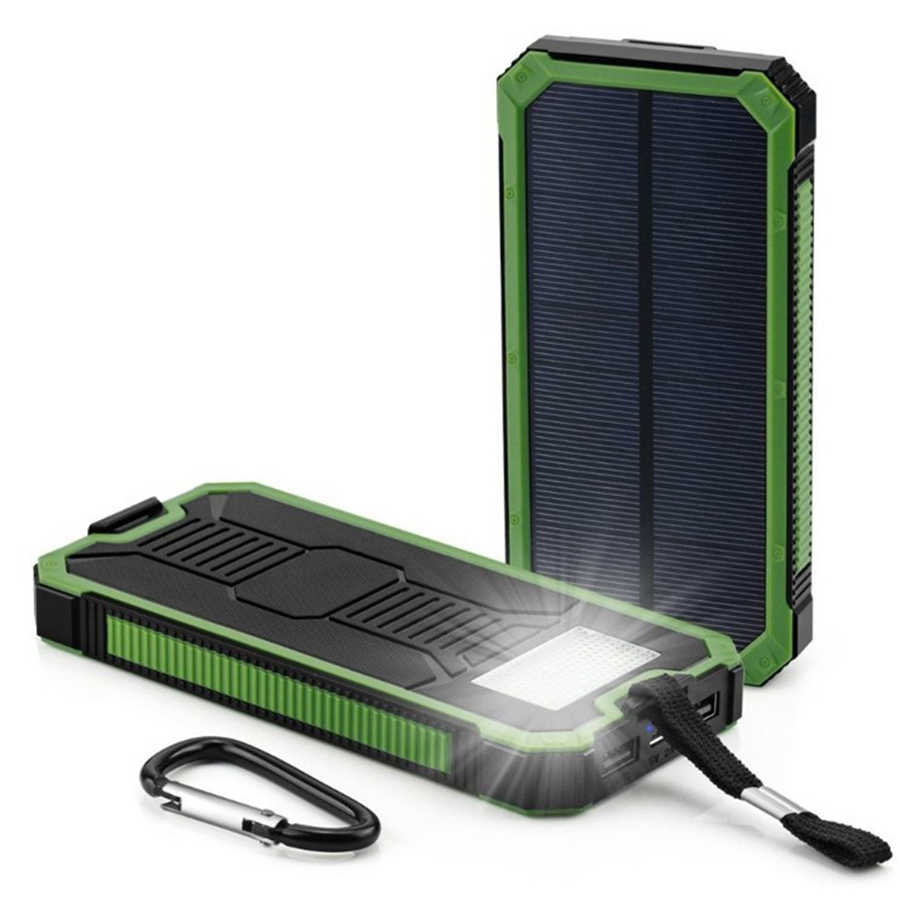 EPULA 12000mAh LED Dual USB Ports Solar Panel Power Bank Case Portable Charger DIY Kits Box for Samsung S9 Xiaomi Cell phone