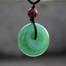Jade Pendant Necklace Amulet-Pair Chain Dongling Women Lovers with for Safety-Button