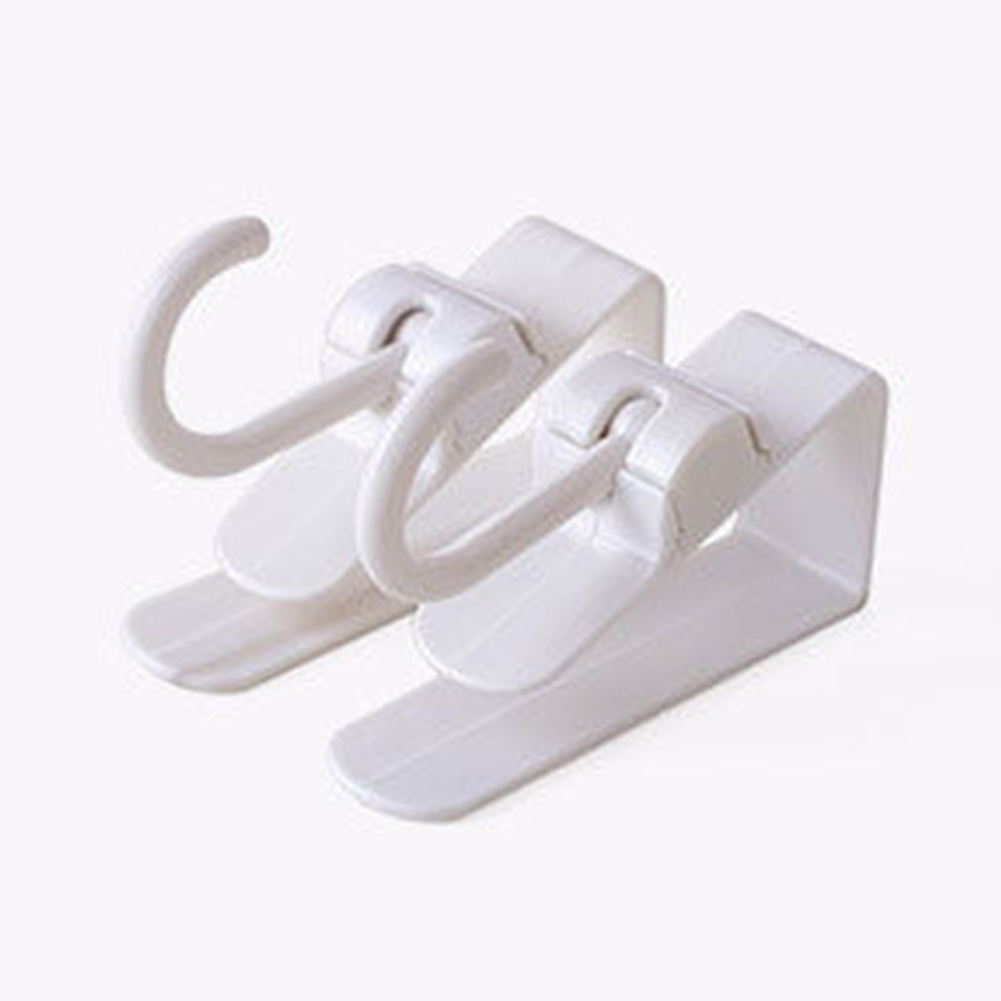 2PCS Bathroom Hanging Organizer Door Hook Kitchen Clothes Cabinet Rotatable Holder Storage Home Office Over Plastic