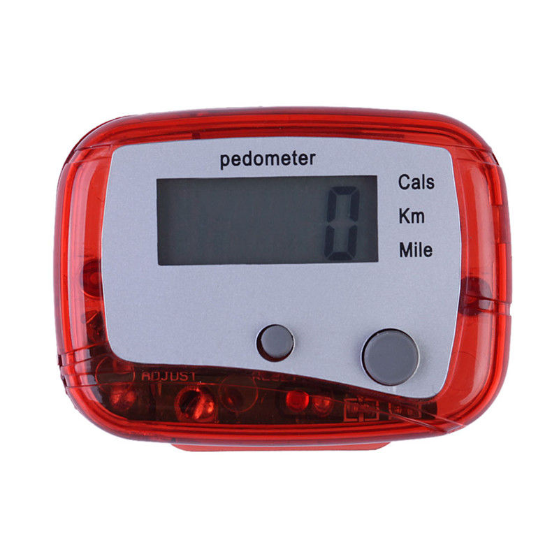 Outdoor Sport Red Multifunction Pedometer Walking Distance Calorie Passometer Counter High Quality